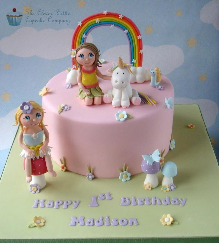 Fairies and Unicorn Birthday Cake - Cake by The Clever Little Cupcake Company