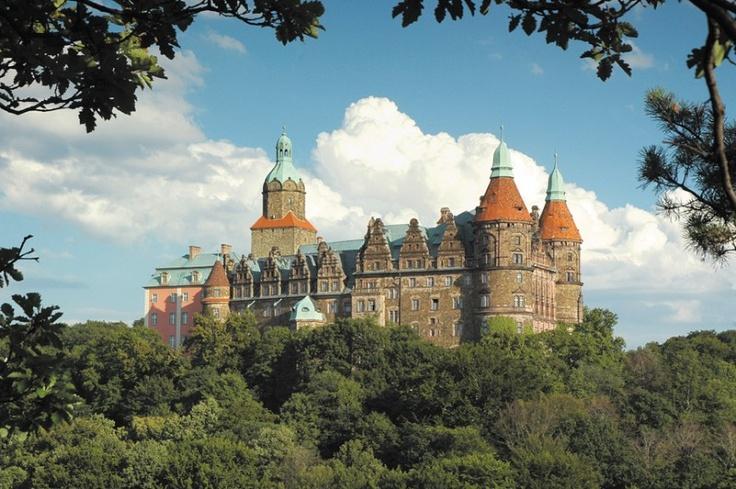 Książ Castle   Poland  {Zamek w Książu. Wybudowany w XIII wieku, jest 3 co do wielkości zamkiem w Polsce (po zamkach w Malborku i na Wawelu)}