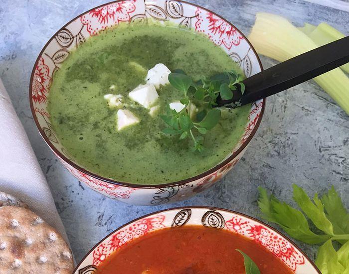 Deilig og sunn spinatsuppe med fetaost - Tara