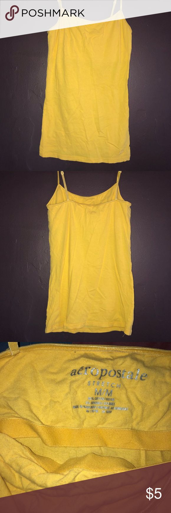 Yellow cami Yellow cami from Aeropostale.  Bundle with others from my closet for a better deal! Aeropostale Tops Camisoles