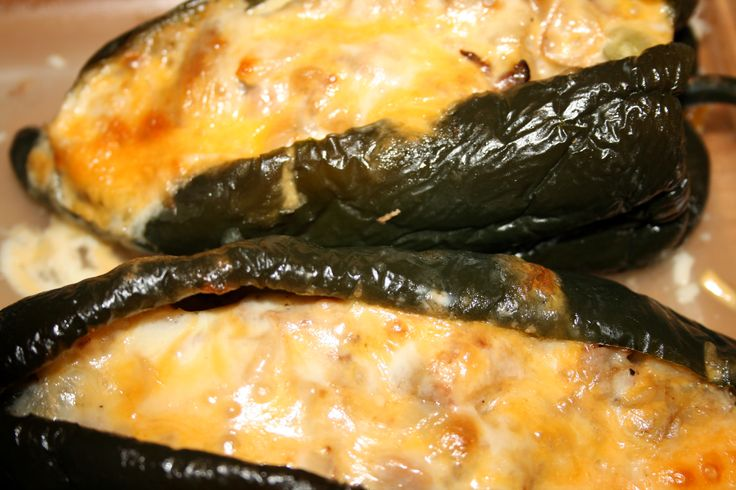 Stuffed Poblano Peppers Made These Last Night With A Few Changes And They Came Out Excellent