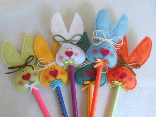 Pascoa............Pencil toppers