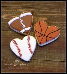 Baseball Cookies Large Number One Birthday Cookies Decorated Sugar ...