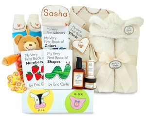 16 best personalized baby gifts images on pinterest baby gift personalized arrive in style baby basket deluxe celebrity edition negle Images