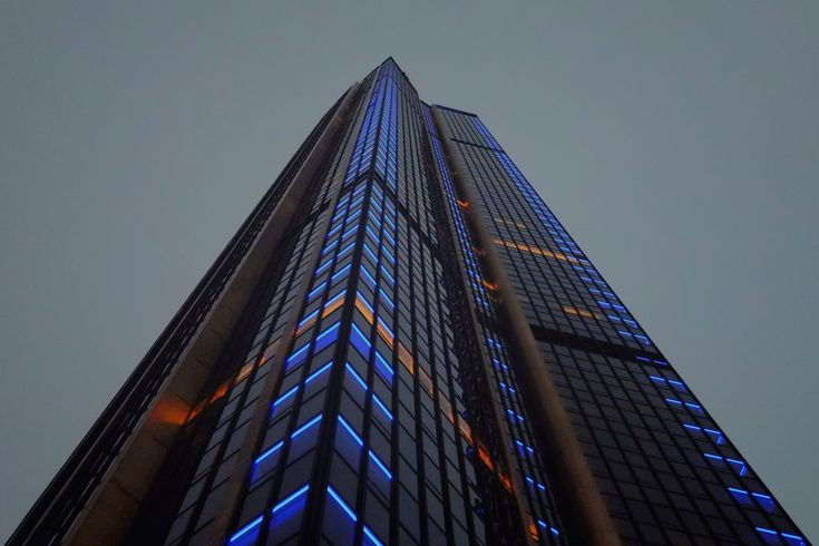 Download this free photo here www.picmelon.com #freestockphoto #freephoto #freebie /// Tower with Blue Neons | picmelon