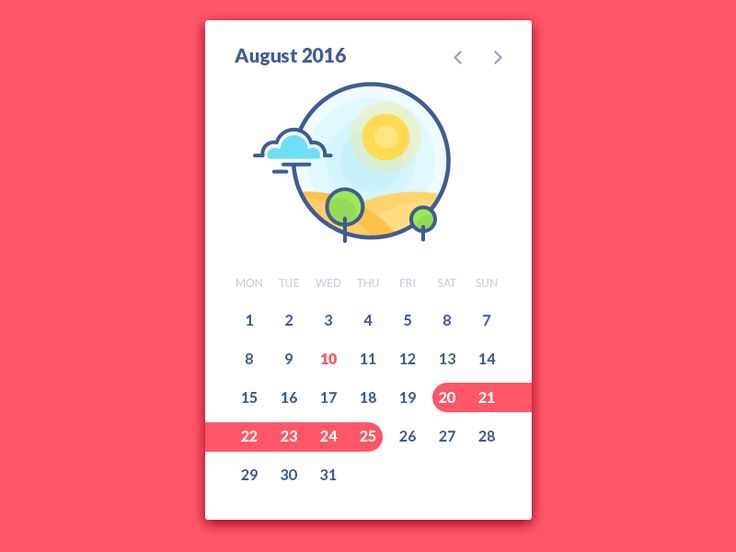 Calendar Widget                                                                                                                                                                                 More