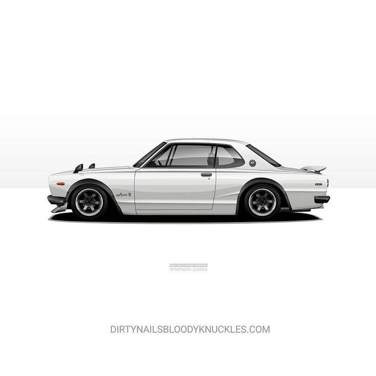 Snow white. Prints at Dirtynailsbloodyknuckles.com Link in profile #nissan #skyline #gtr #nismo #kenmeri #hakosuka #hako #jdmlegends #kpgc10 #kpgc110 #kyusha #boso #watanabe #fairlady #fenderflares #illest #fatlace #speedhunters #iamthespeedhunter #carart #automotiveart #automotiveapparel