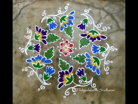 Rangoli and Art Works: Kolam with 13-7 interlaced dots