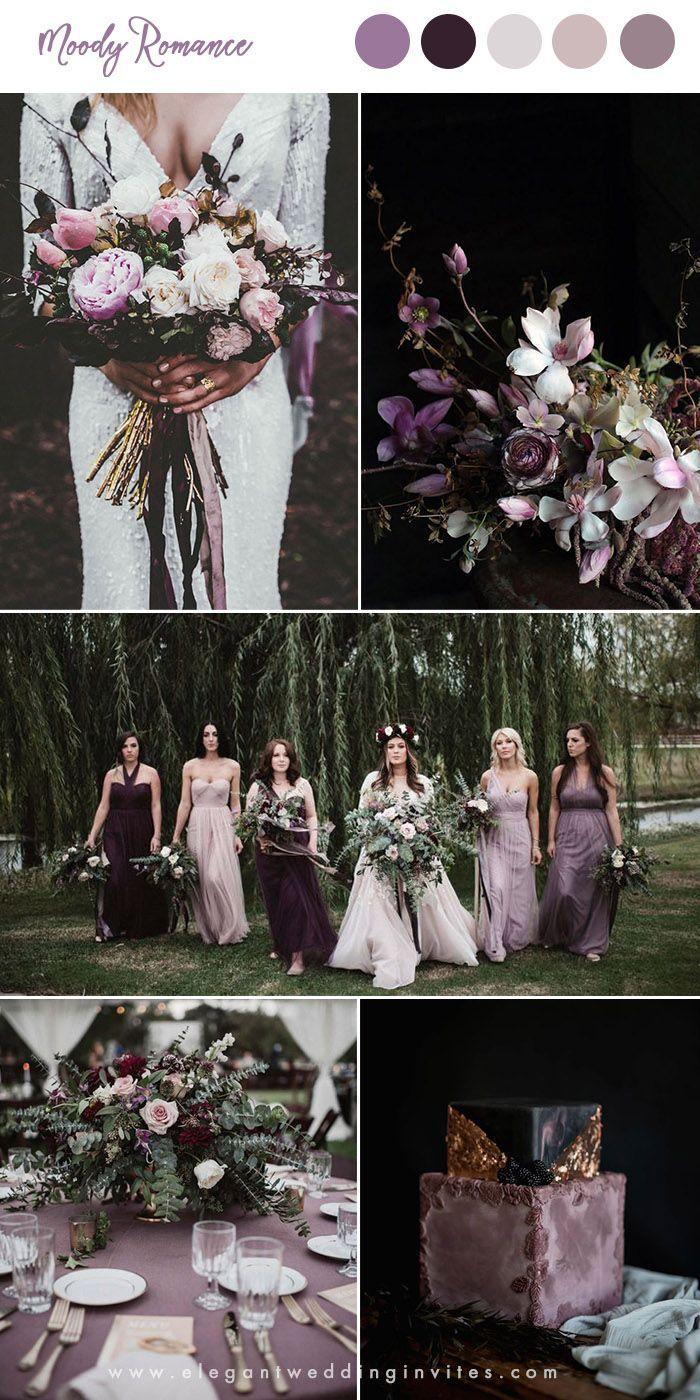 10 hübsche Schattierungen von lila Hochzeit Farbk…