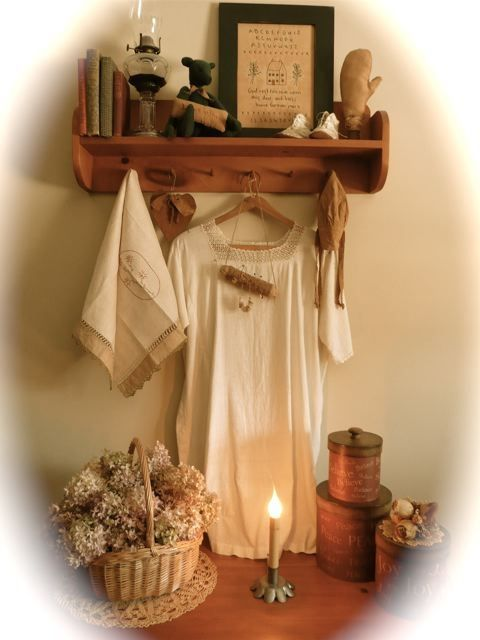 Decorating with Antique Linens and Clothing
