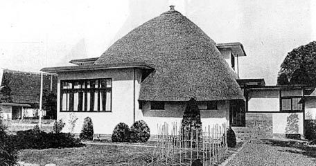 """""""Shien-so""""(or purple-smoke house 1926)  by early 20th century japanese architect Sutemi Horiguchi."""