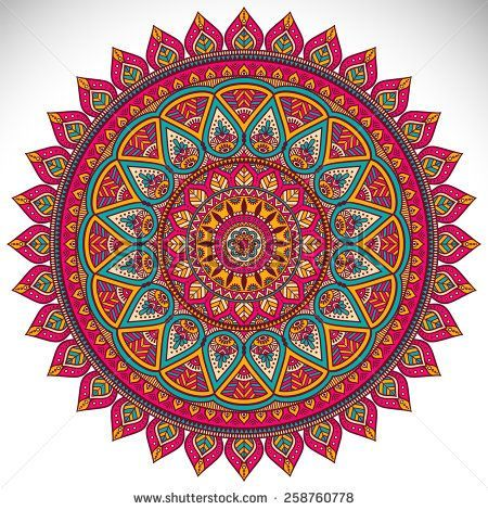 Mandala. Ethnic decorative elements. Hand drawn background. Islam, Arabic, Indian, ottoman motifs.: