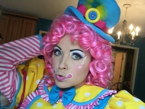Clown Makeup Tutorial how to face paint cute girl girly scary phobia