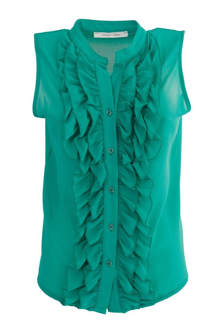 Camicia smanicata c/rouches | Giorgia & Johns