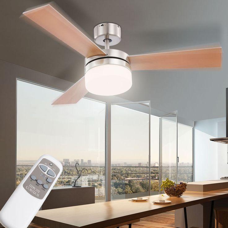 Decken Ventilator Raum Lüfter Kühler FERNBEDIENUNG Lampe Leuchte Globo ALANA Neu in Haushaltsgeräte, Klimaanlagen & Heizgeräte, Deckenventilatoren   eBay!