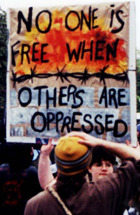 No one is free when others are oppressed.