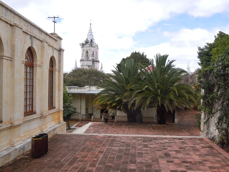 """Looking toward the admin offices of Centro de las Artes in San Agustin Etla.  It is an """"eco-arts"""" center founded by the famous Mexican painter, Francisco Toledo."""