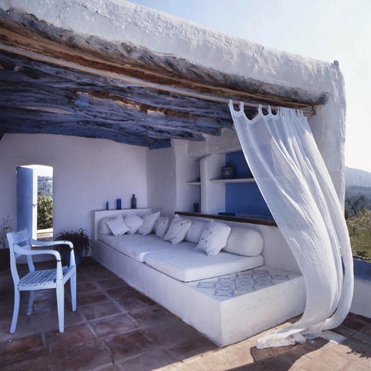 THE LENS ENRIQUE MENOSSIBeach House, Dreams, Outdoor Living Room, Gardens, Outdoor Room, Places, Patios, Greek Islands, Outdoor Spaces
