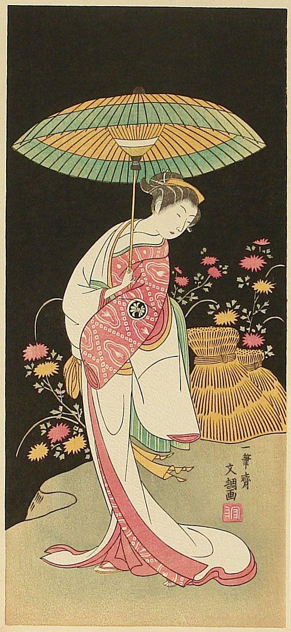Ippitsusai Bunchou Segawa Kikunojo II (late 19th century)