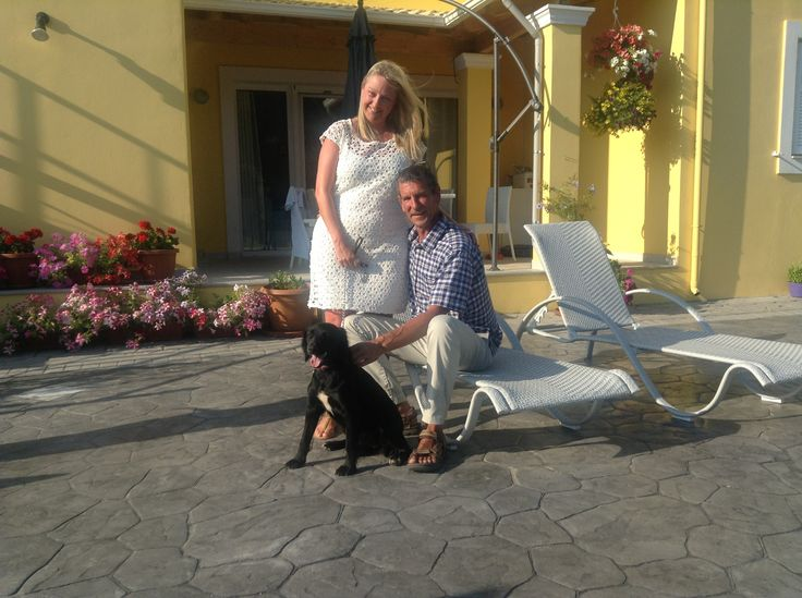 Helen, Dave and Syd the dog - your hosts at home from home guest house, Villa Mimosa