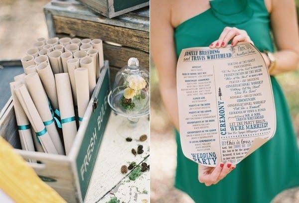 Scroll Wedding Program | 7 Pretty Perfect Wedding Program Ideas
