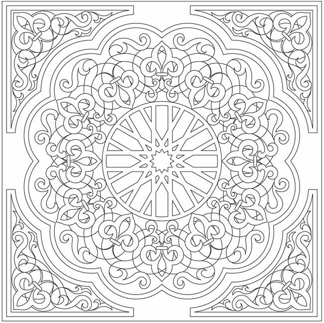 Arabic coloring page...  Totally cool as embroidery:
