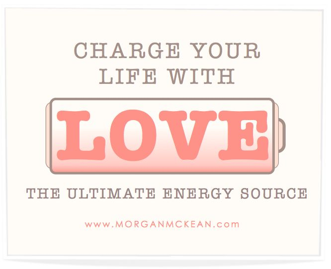 Life Tip :: Love is an infinite source of energy to tap into. When you are feeling anything other than love, (fatigue, stress, illness, anxiety, lack of patience, etc.) close your eyes, take a deep breath and inhale peace, love and understanding, then re-approach the situation from a proactive place instead of a reactive place, with LOVE!