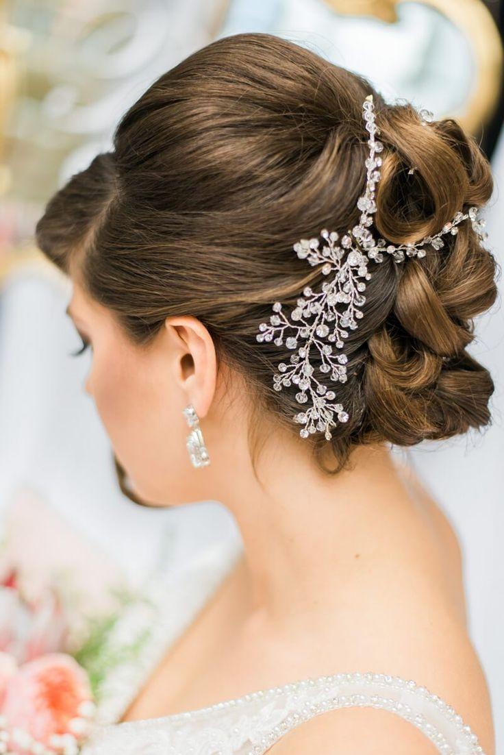 Blush Gold Vintage Wedding Ideas - vintage bridal hair