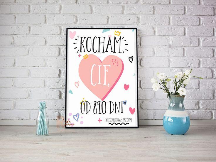 kocham Cie od plakat mapa walentynkowy - RudaMama - Kartki walentynkowe