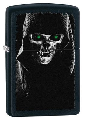 Zippo Lighter - Hooded Skull Black Matte 28436 - $19.35. Free Shipping. No Minimum. 24/7. Promo Code: ZIPPO2013 - 3% off all Zippo Products