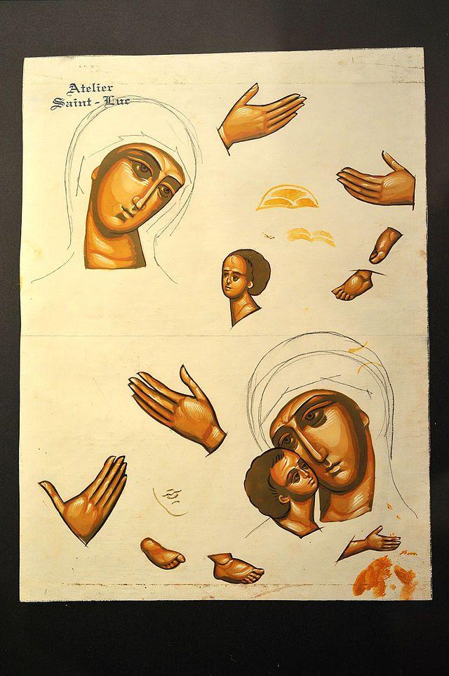 Icon Tatiana Chirikova Sketch 02 09 - Ikone – Wikipedia