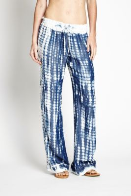 Wide Leg Pull-On Marble-Print Tencel Pants | GUESS.ca $89.50