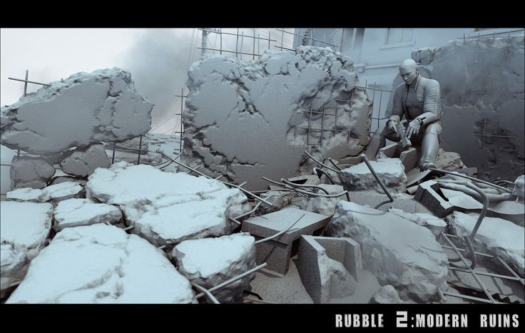 Rubble 2: Modern Ruins   3D Models and 3D Software by DAZ 3D
