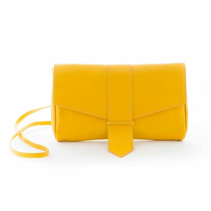 Summer loving! Canary Yellow Clutch lined with organic lining.