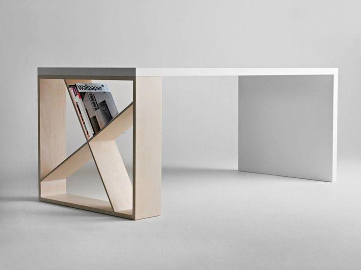 Rectangular table J-TABLE by HORM.IT design Jean François Gomrée