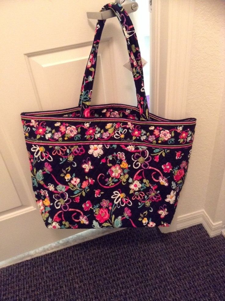 vera bradley grand tote ribbons bag purse luggage travel large xl carryon new verabradley. Black Bedroom Furniture Sets. Home Design Ideas