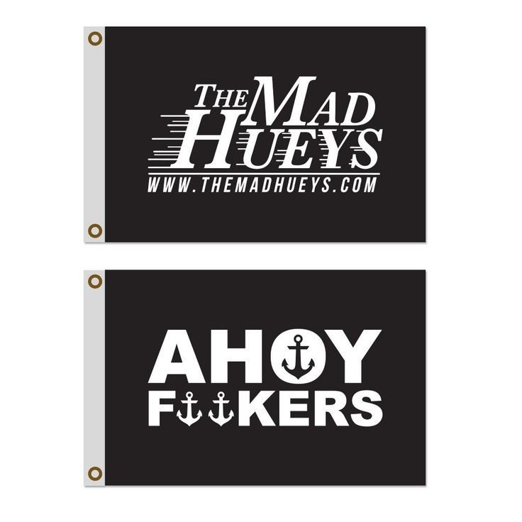 The Mad Hueys - Boat Flag