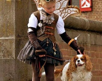 Steampunk travel little lady custom Halloween costume Cosplay steampunk butterfly Pageant costume OOC  12m up to 10 yrs