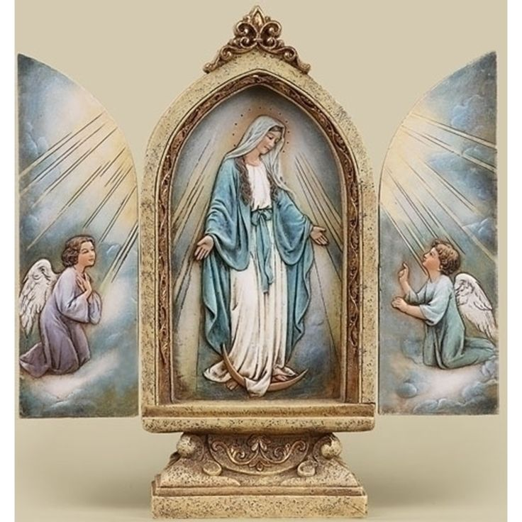 Our Lady Of Grace Triptych - JOSEPH STUDIOS - Religious Figurines - COLLECTABLES