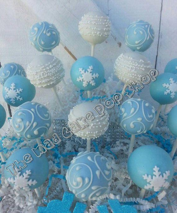 Winter Wonderland Cake Pops-1 DZ.  copo de nieve pastel Pop
