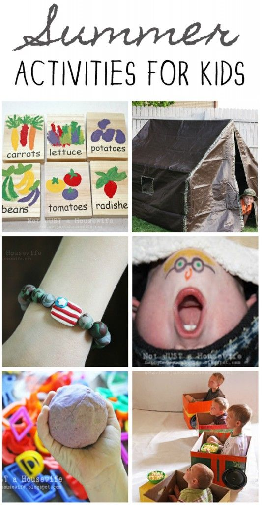 2o ideas to keep kids happy this summer! {Summer} Boredom Busters