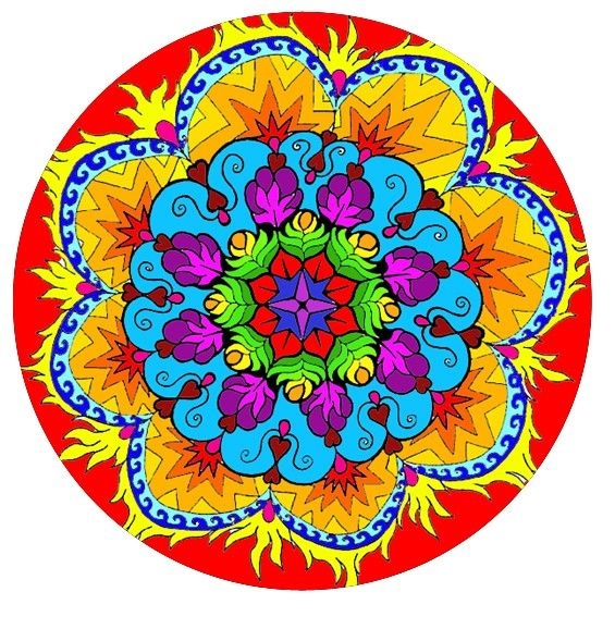 mandalas coloreadas a mano faciles - Buscar con Google