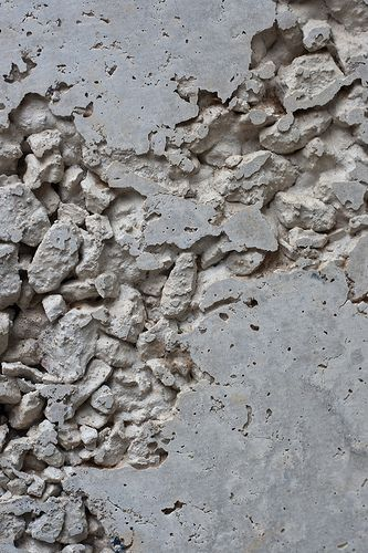 Chalky grey texture inspiration; deteriorating concrete exposed to the elements