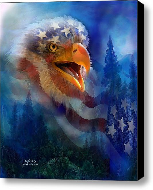 Eagle    Stretched Canvas Print / Canvas Art By Carol Cavalaris: Eagles Cry, Marty Eagles, Eagles Stuff, Patriots Art, Bald Eagles, Cavalari Art, Carol Cavalari, Arm Force, Native American