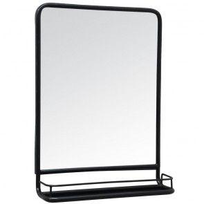 LA16 Blacked Metal Framed Mirror