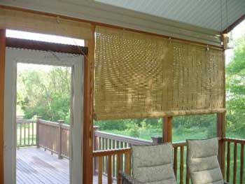 Porch Blinds Screened In Patio Window And Shades
