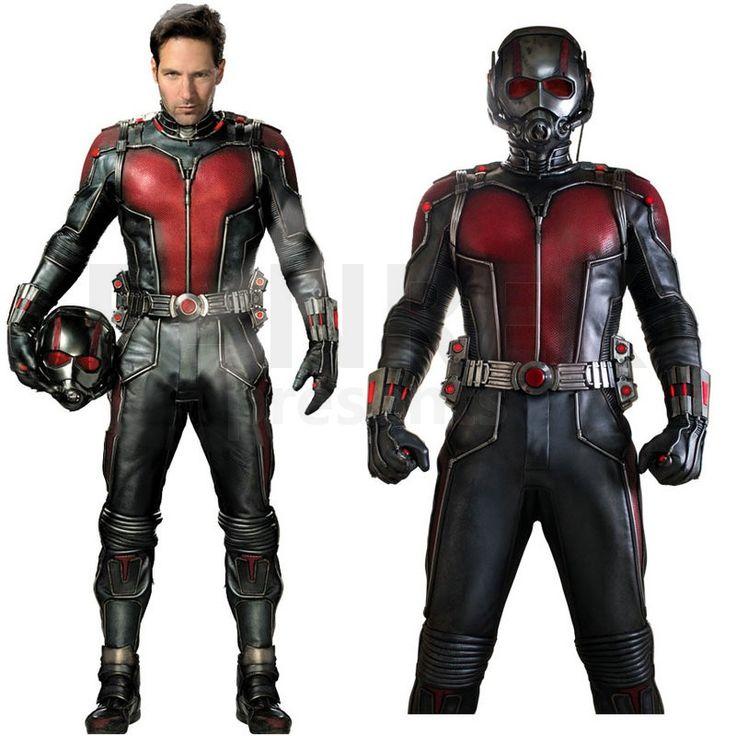 2015 movie ant man cosplay scott lang original costume suit cosplay costume halloween costume for Comcostume halloween homme original