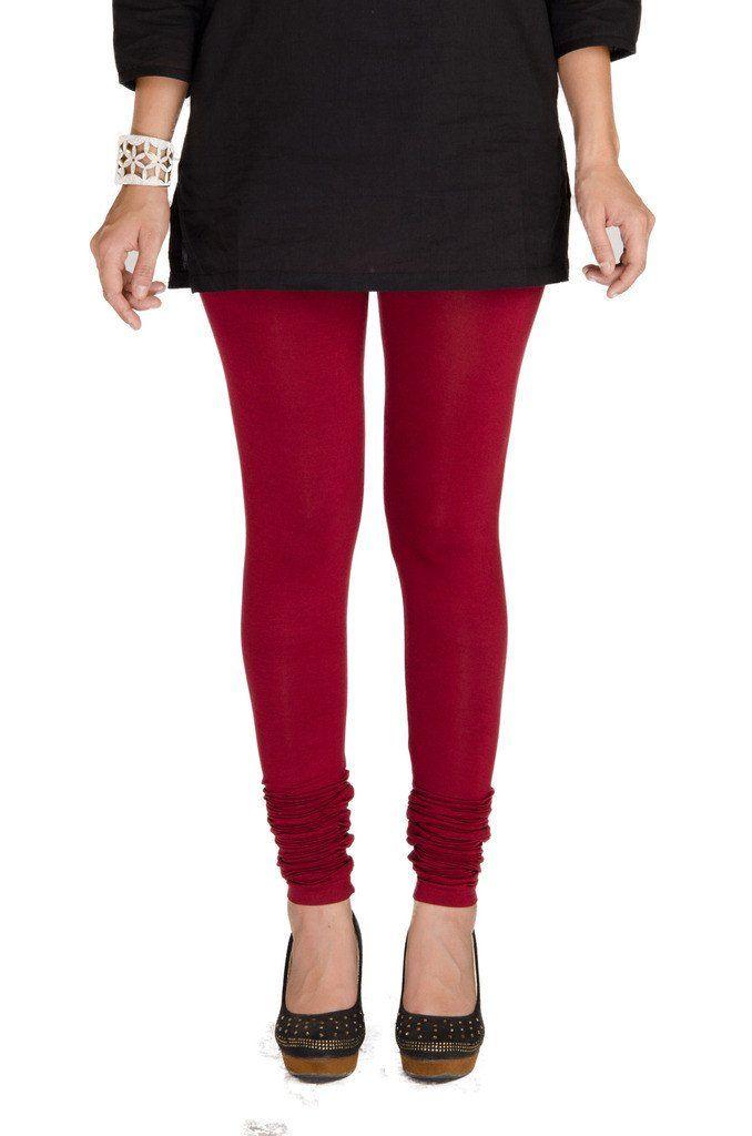 De Moza Ladies Leggings Chudidhar Solid Viscose Lycra Wine  #womensfahion #jogger #demoza #womensfashion #fashionblogger #printedlegging #onlinedeals #tops #palazzo #pants