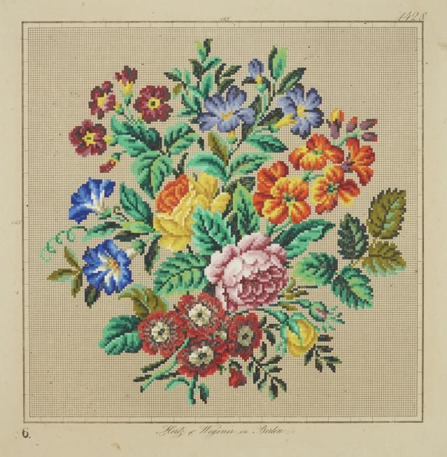Object: Needlework pattern | Collections Online - Museum of New Zealand Te Papa Tongarewa - Hertz und Wegener
