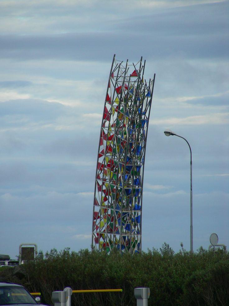 Modern monument in Reykjavik
